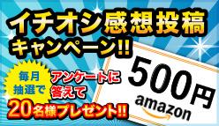 イチオシ感想投稿キャンペーン Amazonギフト券が当たる!