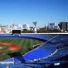 """ついに""""横浜ブルー""""一色になった横浜スタジアム! 内野エリアには防球ネットも"""