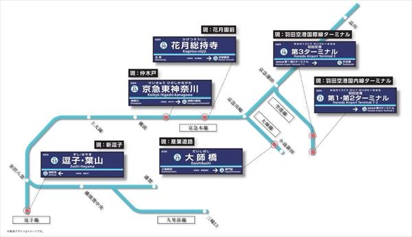 京急線6駅駅名変更